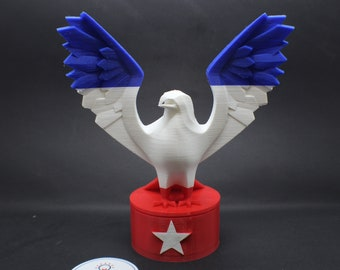 Patriotic Eagle Statue with Secret Storage Compartment