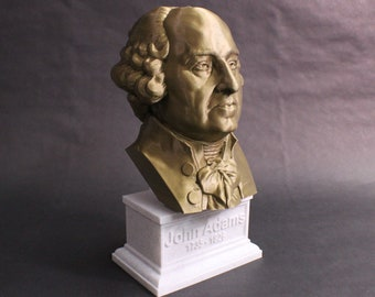 John Adams USA President #2 12 inch 2 color 3D Printed Bust