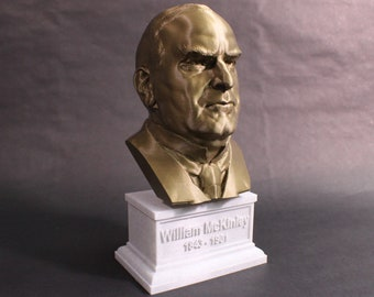 William McKinley USA President #25 12 inch 2 color 3D Printed Bust
