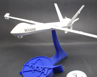 NASA IKHANA MQ-9 Unmanned Aerial Vehicle (uav, drone, etc) Model with Stand