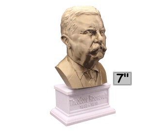 Theodore Roosevelt Teddy USA President #26 7 inch Bust