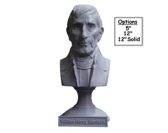 William Henry Harrison USA President #9 5 inch 3D Printed Bust