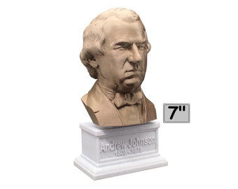 Andrew Johnson USA President #17 7 inch Bust