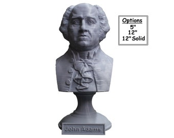 John Adams USA President #2 5 inch 3D Printed Bust