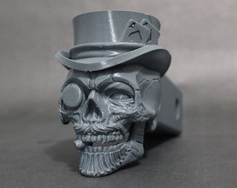"""Mad Hatter Skull Trailer Tow Hitch Receiver Plug Cover that fits 2"""" Receivers for car, truck, or SUV"""