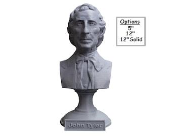 John Tyler USA President #10 5 inch 3D Printed Bust