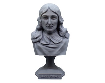 John Milton Famous English Poet and Intellectual 5 inch Bust