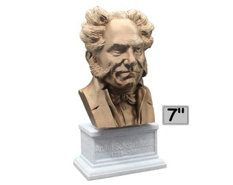 Arthur Schopenhauer German Philosopher 7 inch Bust
