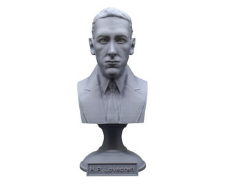 H.P. Lovecraft Famous American Writer 5 inch Bust