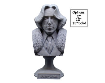 Oscar Wilde, Irish Poet and Playwright 3D Printed Bust