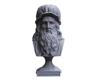 Leonardo da Vinci Italian Polymath, inventor, painter, and Renaissance man 5 Inch Bust