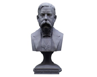 George Westinghouse Jr. Famous American Businessman and Engineer 5 Inch Bust