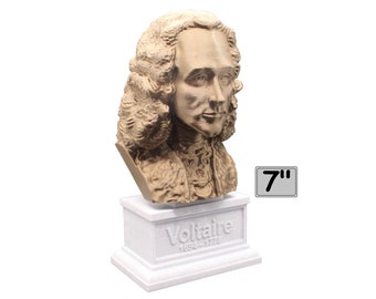 Voltaire French Enlightenment Philosopher 7 inch Bust