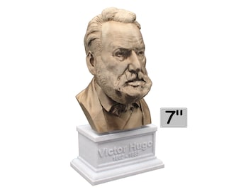Victor Hugo Famous French Poet, Novelist, and Dramatist 7 inch Bust