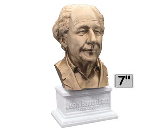 Jean Baudrillard French Sociologist, Philosopher, and Cultural Theorist 7 inch Bust