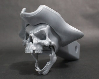 """Laughing Patriot Skull Trailer Tow Hitch Receiver Plug Cover that fits 2"""" Receivers for car, truck, or SUV"""