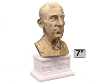 Smedley Butler Most Decorated Marine Major General USMC 7 inch 3D Printed Bust