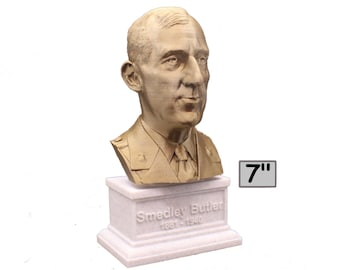 Smedley Butler Most Decorated Marine Major General USMC 7 inch Bust