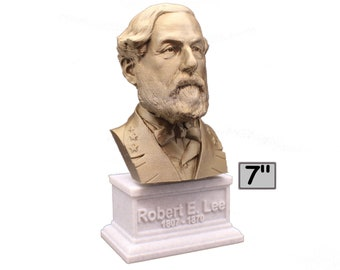Robert E. Lee American Civil War General USMC 7 inch 3D Printed Bust