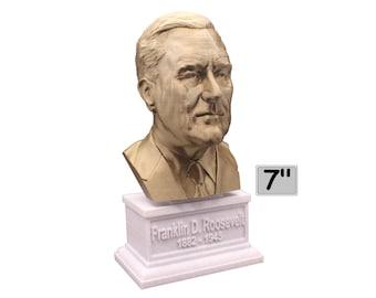 Franklin Delano Roosevelt FDR USA President #32 7 inch Bust
