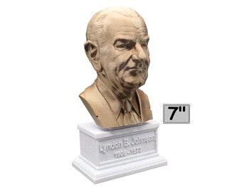 Lyndon B. Johnson LBJ USA President #36 7 inch Bust