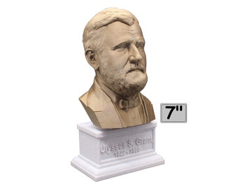Ulysses S. Grant USA President #18 7 inch Bust
