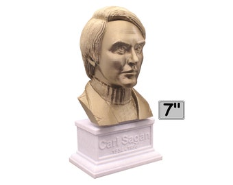 Carl Sagan, American Astronomer, Cosmologist, and Author 7 inch Bust