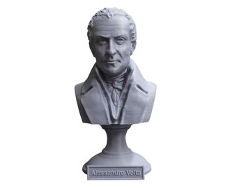 Alessandro Volta Italian Pioneer of Electricity and Power 5 Inch Bust