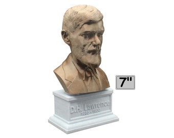 D.H. Lawrence British Writer and Poet 7 inch Bust