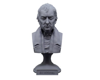 Eli Whitney Famous American Inventor 5 Inch Bust