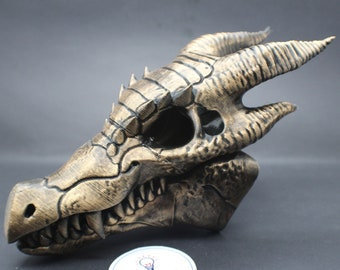 Painted Dragon Skull Bonehead by 3DKitbash