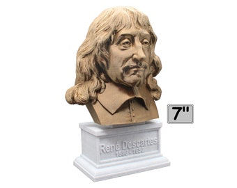 René Descartes French Philosopher, Mathematician, and Scientist 7 inch Bust