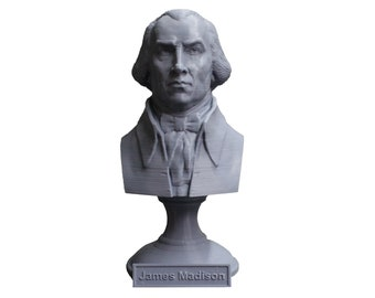 James Madison USA President #4 5 inch Bust