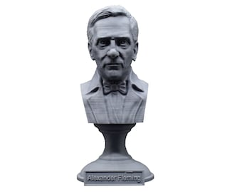Alexander Fleming Famous Scottish Biologist, Physician, and Pharmacologist 5 Inch Bust