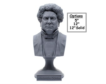 Alexandre Dumas Famous French Writer 3D Printed Bust