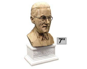 James Joyce Famous Irish Novelist 7 inch Bust