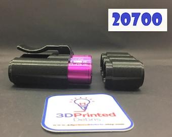 Belt Clip Vape Battery Case for 3 x 20700 and smaller Lithium Batteries