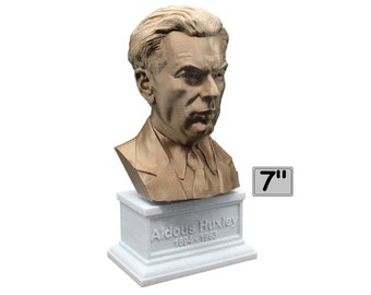 Aldous Huxley Famous English Writer and Philosopher 7 inch Bust