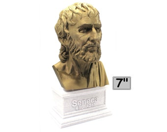 Lucius Anneaus Seneca the Younger Roman Stoic Philosopher 7 inch 3D Printed Bust