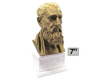 Zeno of Citium Hellenistic Stoic Philosopher 7 inch 3D Printed Bust