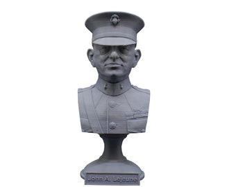 John A. Lejeune Legendary US Marine USMC General and 13th Commandant 5 Inch Bust