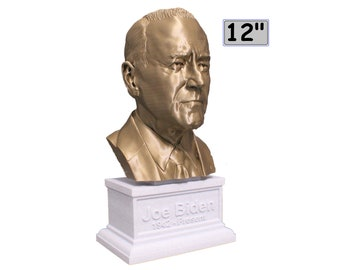 Joe Biden USA President #46 12 inch 2 color 3D Printed Bust