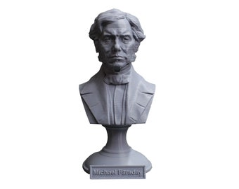 Michael Faraday Famous British Electromagnetic and Electrochemical Scientist 5 Inch Bust