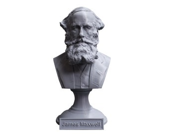 James Clerk Maxwell Famous Scottish Scientist Mathematical Physics 5 Inch Bust