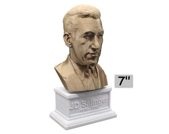 JD Salinger Famous American Writer 7 inch Bust