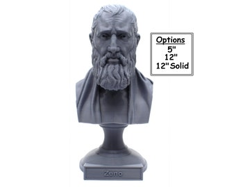 Zeno of Citium Hellenistic Stoic Philosopher 3D Printed Bust