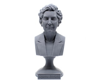 Agatha Christie Famous English Writer 5 inch Bust