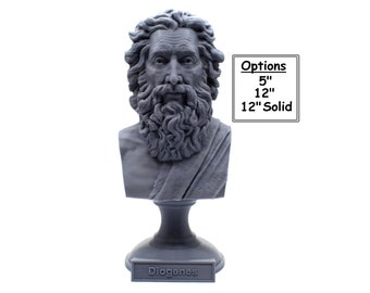 Diogenes The Cynic Greek Philosopher 3D Printed Bust