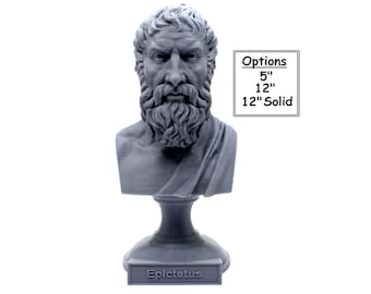 Epictetus Greek Stoic Philosopher 3D Printed Bust