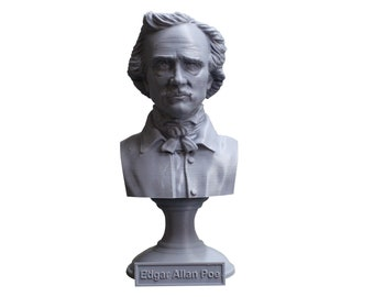 Edgar Allan Poe, American Writer, Editor, Poet, and Literary Critic 5 inch Bust